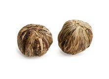 2 китайских шарика зеленых чая Стоковое Изображение