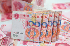 100 китайских юаней Стоковое фото RF