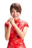 Китайское благословение девушки Стоковые Изображения
