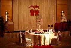 китайское венчание таблицы Стоковая Фотография RF
