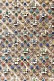Украшение внешней стены китайского введенного в моду виска Стоковое Изображение RF