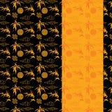 Китайское знамя вертикали картины черноты и золота бамбуковое бесплатная иллюстрация