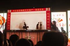 Китайское ` игры тени ` народного искусства стоковое фото rf
