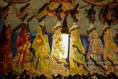 Китайское искусство народного театра, тень Стоковое Изображение RF