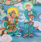 Китайское искусство стенной росписи Стоковое Изображение