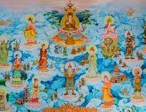 Китайское искусство стенной росписи Стоковая Фотография