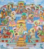 Китайское искусство стенной росписи Стоковые Изображения RF