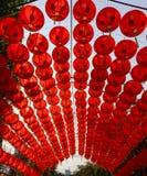 Китайское красное украшение фонарика для китайского фестиваля Нового Года Стоковые Фото