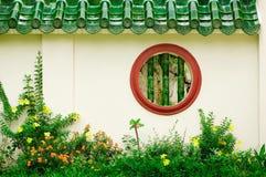 китайское круглое окно Стоковое Фото