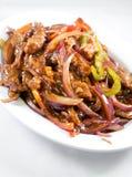 Китайское мясо с овощами в сладостном кислом соусе Стоковое фото RF