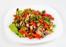 Китайское мясо с овощами в сладостном кислом соусе Стоковые Фото