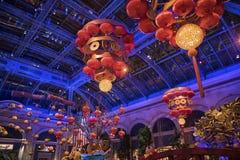 Китайское оформление Нового Года в гостинице Лас-Вегас стоковая фотография