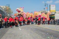 Китайское представление дракона Стоковая Фотография