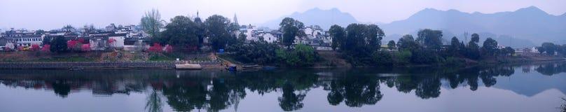китайское село панорамы Стоковая Фотография