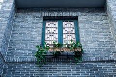 Китайское старинное здание Windows Стоковые Изображения RF