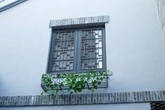 Китайское старинное здание Windows Стоковое Изображение