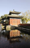 Китайское стародедовское здание с отражениями стоковая фотография