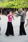 китайское старые люди танцы Стоковые Фотографии RF