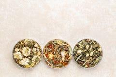 Китайское травяное собрание чая смеси Стоковое фото RF