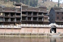 Китайское традиционное зодчество Стоковое Фото