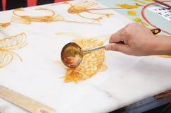 Китайское традиционное народное искусство: Handmade сахар стоковое изображение rf