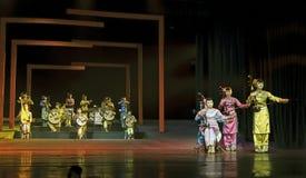 Китайское традиционное фольклорное целесообразное представление концерта стоковая фотография
