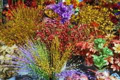 Китайское украшение Нового Года: искусственные цветки стоковая фотография rf