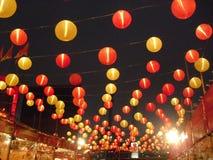Китайское украшение фонарика в западном Kowloon, Гонконге стоковые изображения rf