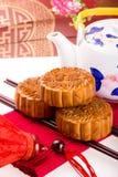 Китайское Mooncake Стоковые Изображения