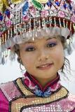 китайцы одевают этническую девушку традиционную Стоковые Фото