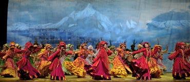 китайцы танцуют этническое qiang Стоковые Изображения