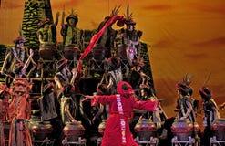 китайцы танцуют этническое qiang Стоковое Изображение RF