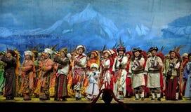 китайцы танцуют этническое qiang Стоковая Фотография