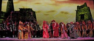 китайцы танцуют этническое qiang Стоковое Фото