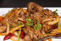 китайцы фасоли закрывают ростки sichuan рыб кухни свежим poached перцем красные вверх Стоковое Изображение