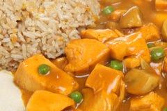 китайцы цыпленка curry takeaway Стоковое фото RF