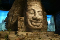 Китай Азия, Пекин, прописной музей, реликвии Кампучии Angkor и художественная выставка Стоковая Фотография RF