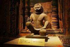 Китай Азия, Пекин, прописной музей, реликвии Кампучии Angkor и художественная выставка Стоковое Изображение RF