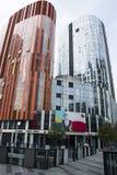 Китай и Азия, Пекин, Sanlitun SOHO, современные здания, коммерчески район Стоковые Изображения
