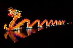 Китай освещает дракона стоковое изображение