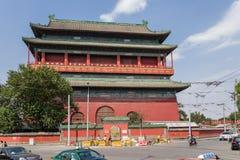 Китай, Пекин Башня барабанчика - самое старое здание в Пекине, 1420 Стоковые Фотографии RF