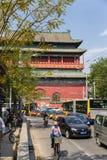 Китай, Пекин Башня барабанчика - самое старое здание в Пекине Стоковая Фотография