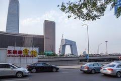 Китай, Пекин Здания высотного здания современные и бульвар - 5 Стоковое Фото