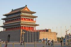 Китай Пекин Строб Zhengyangmen Стоковые Фотографии RF