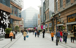 Китай: пешеходная улица стоковые изображения rf