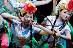 Китай, представления танца оперы Пекина Стоковая Фотография