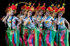 Китай, представления танца оперы Пекина Стоковые Фото