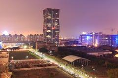 Китай Сталь Корпорация размещает штаб в Kaohsiung, Тайване, на заходе солнца Стоковые Фото