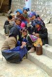 Китай, Тибет, люди стоковая фотография