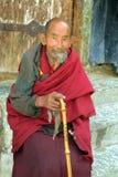 Китай, Тибет, монах стоковые фотографии rf